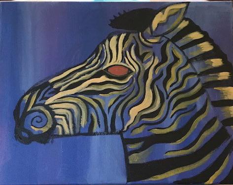 zebra painting 1